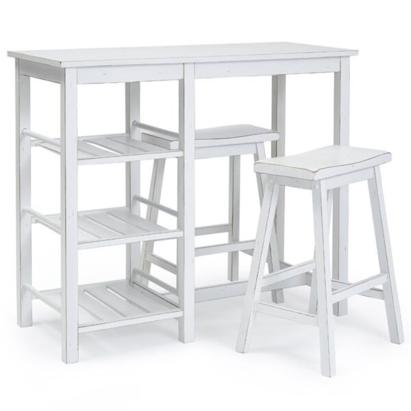 Progressive furniture distressed chalk white counter table - Gartenlounge gebraucht ...