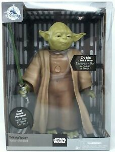DISNEY-Store-Exclusive-Star-Wars-TALKING-amp-MOVING-YODA-Figure-NEW-in-Package