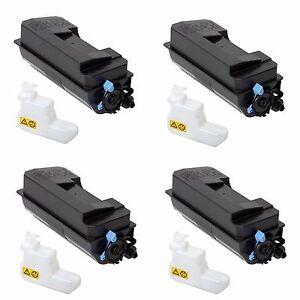4 Pk Kyocera ECOSYS M3550idn FS-4200DN Black Toner Cartridge TK-3122