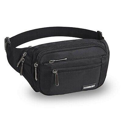 WENTS Sports Belt Bag Running Belt with Water Bottle Holder Waterproof Bum Bag Cycling Waist Bag Jogging Belt Dog Walking Bag for Travel Holidays Camping Climbing Hiking Blue