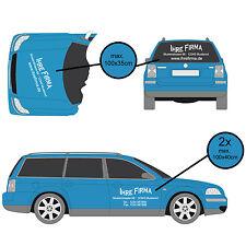 Autobeschriftung Kfz Beschriftung Fahrzeugbeschriftung PKW 4tlg Komplett