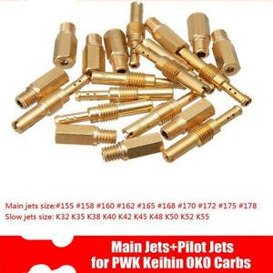 20Pcs Set Slow//Pilot Jet For PWK Keihin OKO CVK 32 35 38 40 42 45 48 50//52//55