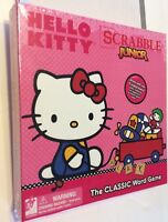 Hello Kitty Scrabble Junior Word Board Game 100 Wood Tiles 2 Side Game