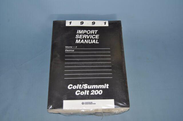 1991 Dodge Colt 200 Service Shop Repair Manual Set New In