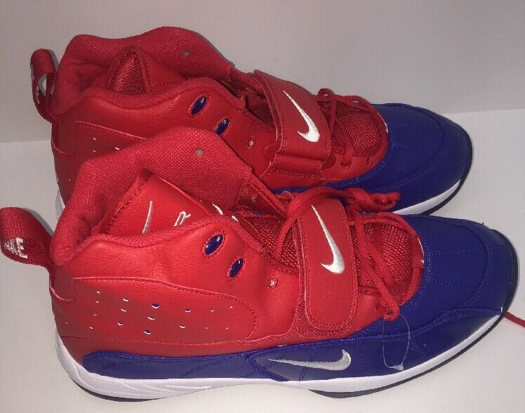 New shoes for men and women, limited time discount NIKE AIR FORM ZM ZOOM HI-TOPS  Football Cleats SIZE 15 RED/WHITE/BLUE