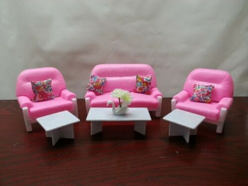 Gloria Living Room Play Set 94014 Barbie Size Doll House Furniture//