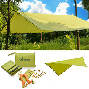 Image is loading Waterproof-Sunshade-Tarp-Shelter-Awning-Canopy-C&ing- Beach-  sc 1 st  eBay & Waterproof Sunshade Tarp Shelter Awning Canopy Camping Beach Tent ...