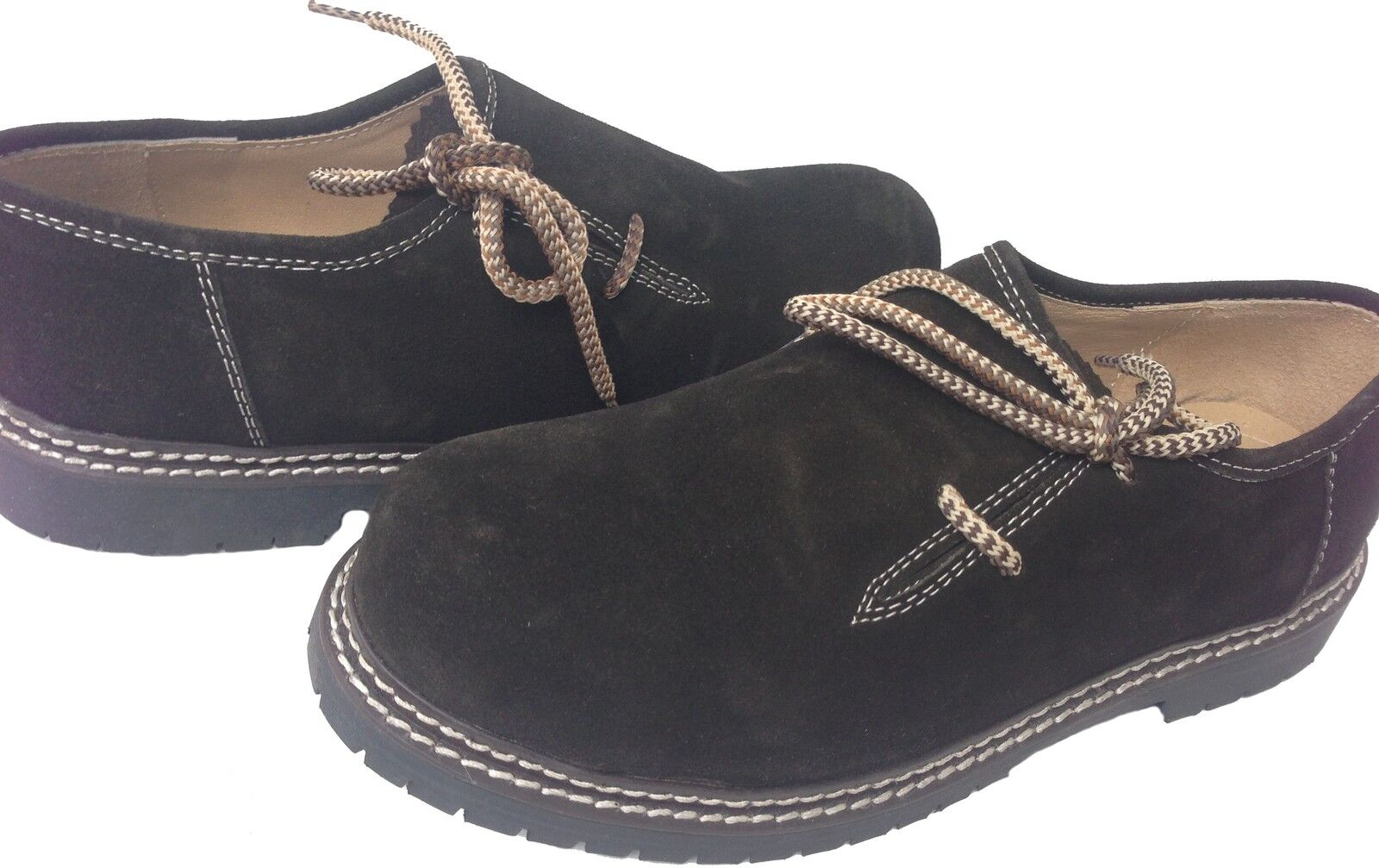Herren Schuhe Herrenschuhe Haferlschuhe Wanderschuhe  d Braun Echt Leder Haferl