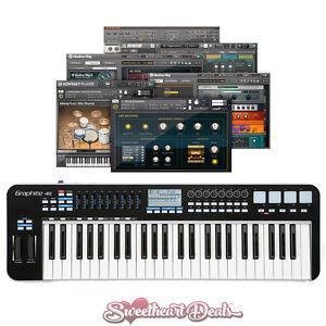 samson graphite 49 usb midi keyboard software controller bundle 809164013662 ebay. Black Bedroom Furniture Sets. Home Design Ideas