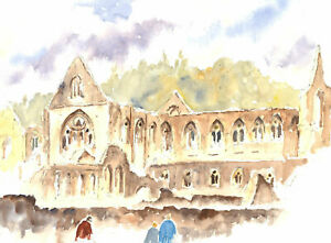 John-A-Case-20th-Century-Watercolour-The-Abbey-Grounds