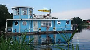 hausboot wohnschiff 14 94 x 5 45 m mit. Black Bedroom Furniture Sets. Home Design Ideas