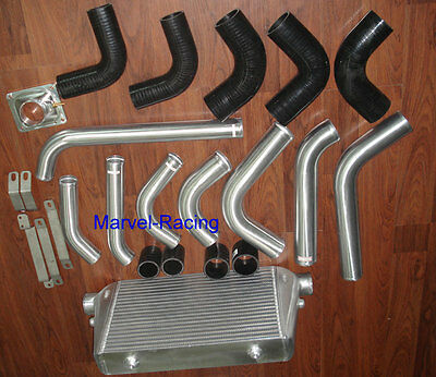 Front mount intercooler kit for Landcruiser 80 series 1HDFT 4.2L turbo Diesel