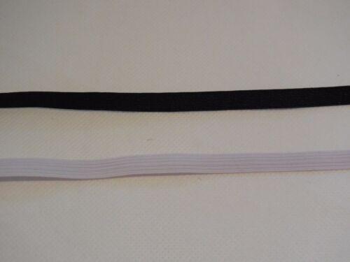 3mm 5mm 7mm 9mm amplia cinturilla elástica plana Negro O Blanco Alta Calidad Por Metro