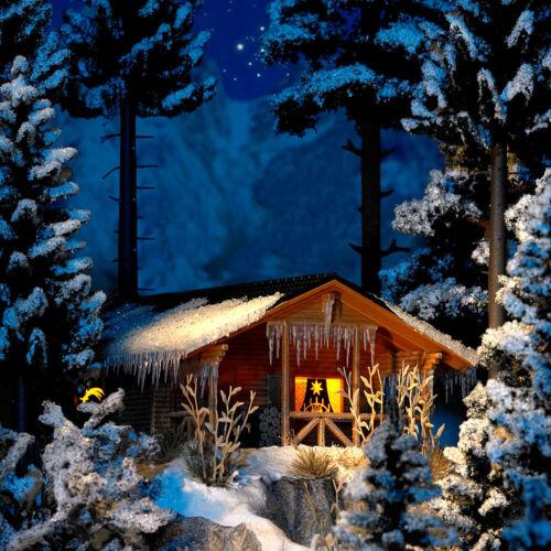 Busch HO 1085 hiver cabane avec éclairage #neu en OVP #