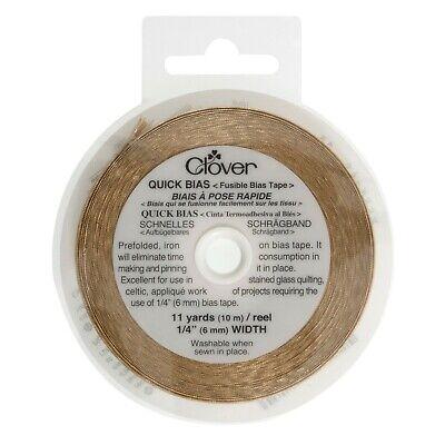 Clover Quick Bias Fusable Bias Tape 10m By 6mm