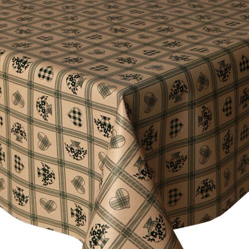 Pvc table nappe love carreaux vert coeur tartan gingham floral essuyer capable protecteur