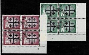 Berlin-Minr-215-216-Corner-4-FN-Form-Number-1-Or-2-Ungeknickt-Postmarked-Est