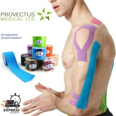 Kinesiology Tape 3//6//9//12 Pack Sport Physio Muscle Strain Injury Support KT Ares