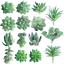 FEPITO-15-Pcs-Artificial-Succulent-Plants-Green-Unpotted-Faux-Flower-Succulents thumbnail 1