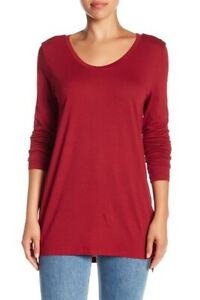 Abound-women-039-s-Long-Sleeve-Everyday-Tee-Red-Rumba