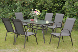 modern outdoor dining 7 pc patio set heat resistant table sleek chairs