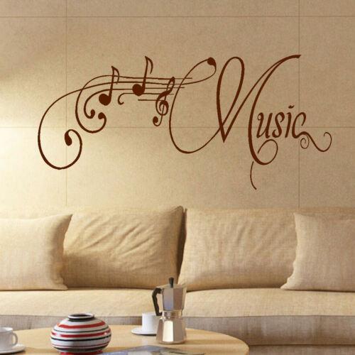 Grande salle de musique mur citation autocollant géant Art Transfert Autocollant Décoration Pochoir