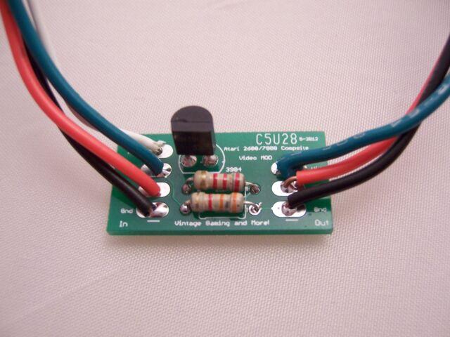 Atari 2600/7800 Composite Video Mod Upgrade Kit - DIY