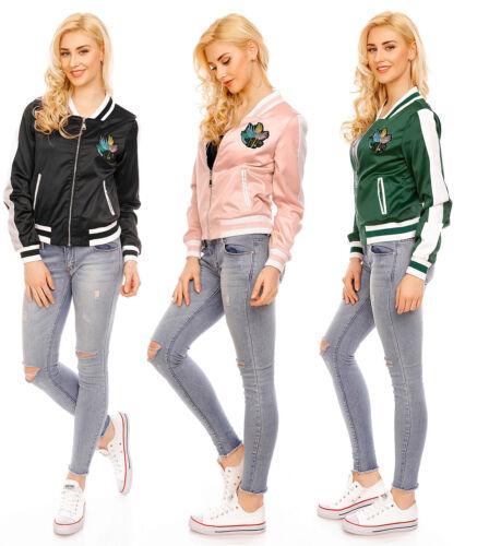 Señora chaqueta cazadora College Biker chaqueta aviador chaqueta cazadora wj-7158