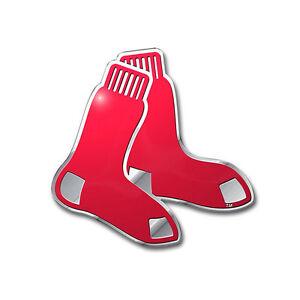 New-MLB-Boston-Red-Sox-Car-Truck-Auto-3-D-Aluminum-Color-Emblem-Sticker-Decal