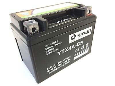 Mighty Max YTX4L-BS Battery for Cagiva 50 City 1994-1997 12V 1Amp Charger