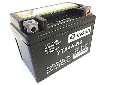 Mighty Max YTX4L-BS GEL Battery for Yamaha Honda Aero Spree 12V 1AMP CHARGER