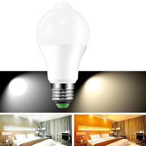 E27 LED Glühbirne mit Bewegungs Sensor Bewegungsmelder PIR Infrarot 9W 01