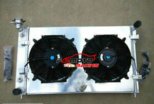 3-row-Aluminum-Radiator-Shroud-Fans-FOR-Holden-Commodore-VY-6cyl-V6-2002-03-2004