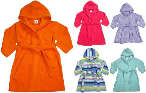 Baby Infant Toddler Kids Boys Girls Fleece Hooded Beach Pool Bath Bathrobe