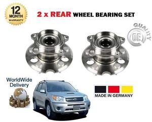 FOR TOYOTA RAV 4 2.0i 2.0DT D4D 2000-2006 NEW 2x REAR WHEEL BEARING HUB SET KIT