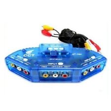 3 Way Audio Video AV RCA Switch Switcher Selector Box Splitter for XBOX DVD PS3