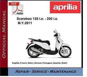 aprilia scarabeo 125 i e 200 i e workshop service repair manual ebay rh ebay com Aprilia Scarabeo 100 Parts CDI Aprilia Scarabeo 100 Parts CDI