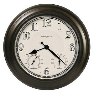 "NEW HOWARD MILLER OUTDOOR WALL CLOCK 625-677 CALLED /""ASPEN/"" 22/"" DIAMETER 625677"