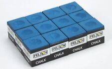 12 Premium Blue Cubes Pool Cue Stick Chalk Snooker Billiard Sports Accessories