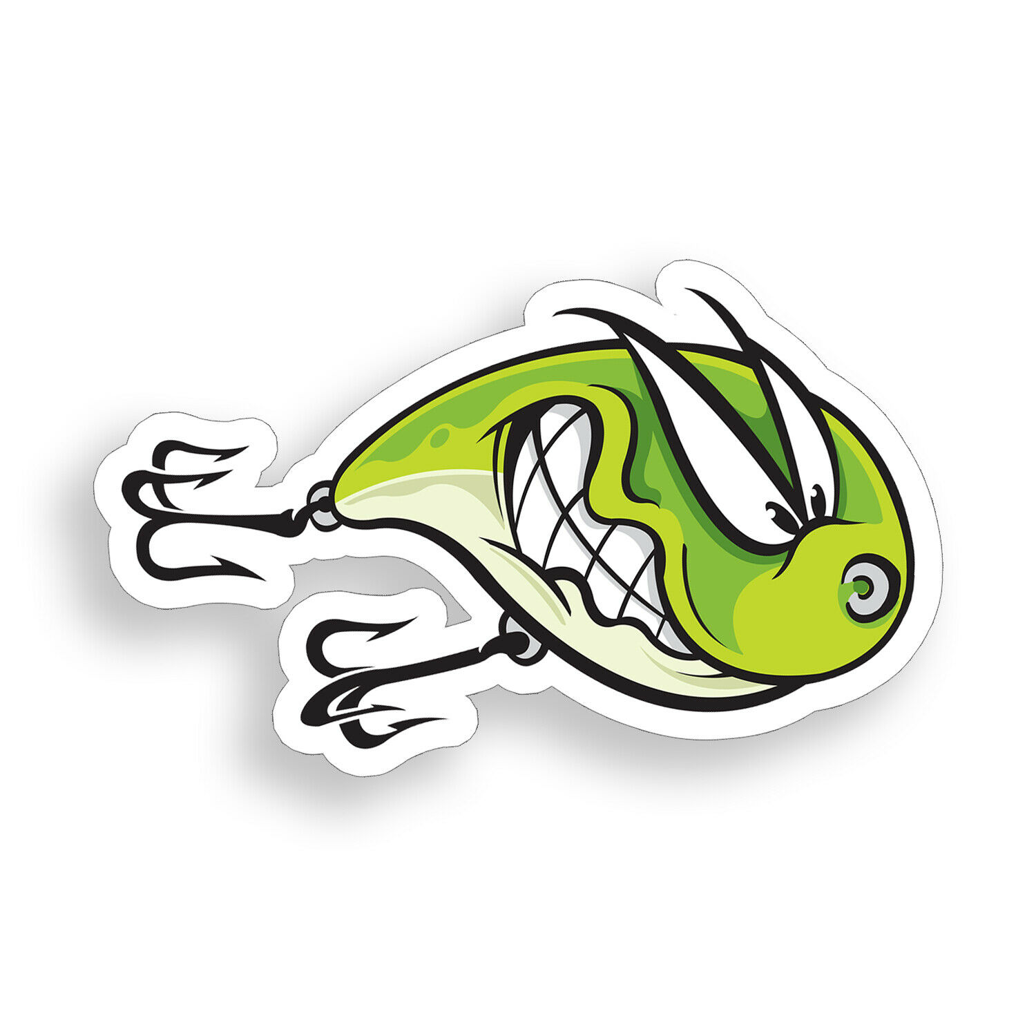 """YUM High Quality Decal Sticker Tackle Box Lures Fishing Boat Truck 4 Pack of 2/"""""""