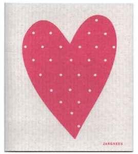 NEW-Pink-Love-Heart-Design-Eco-Friendly-Kitchen-Dishcloth