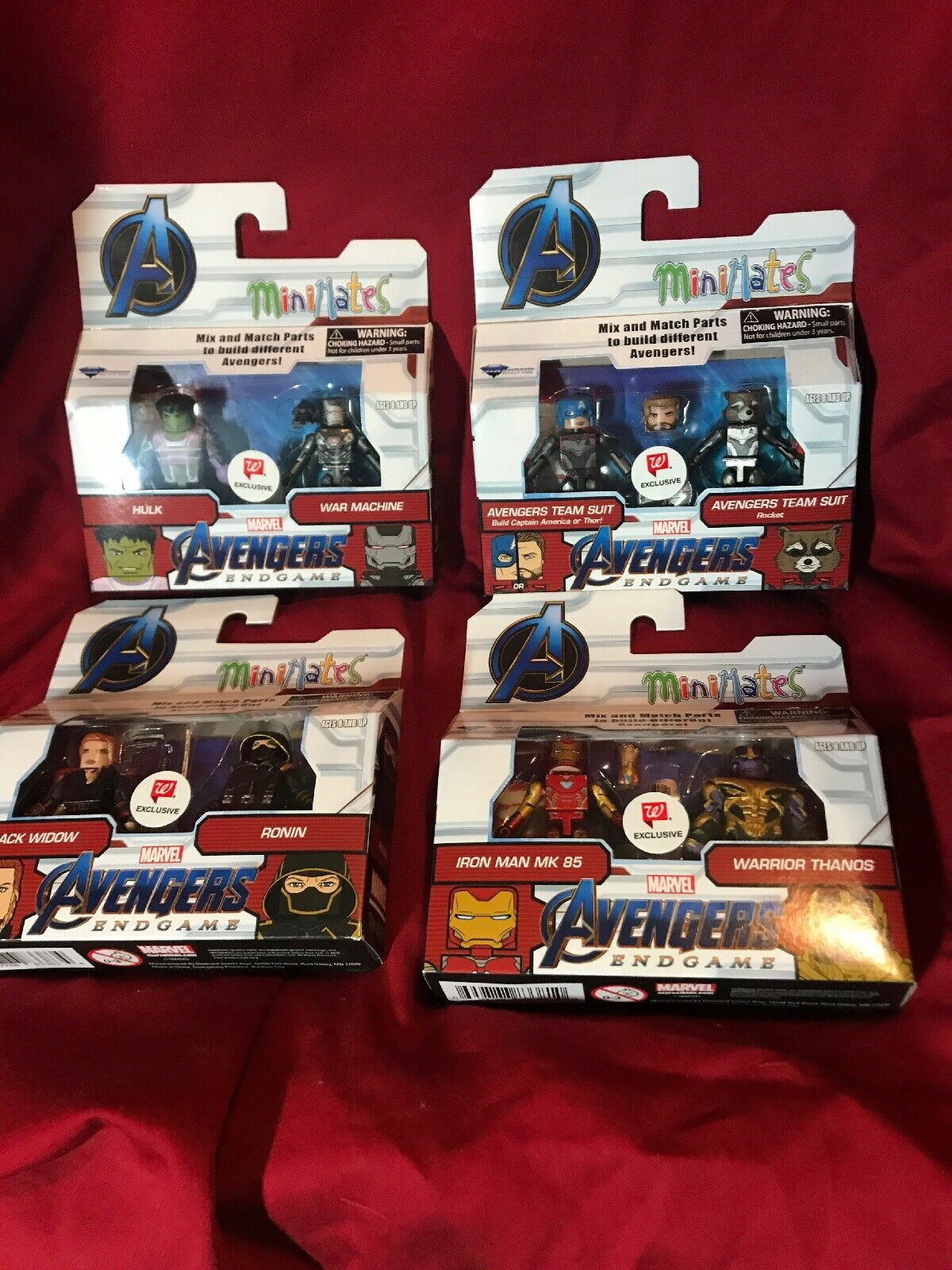 Minimates Marvel Avengers Endgioco Walverdes Exclusive Set of 4.