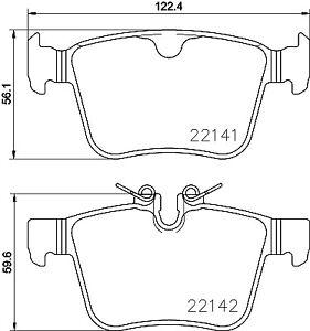 Ate - Teves Borg /& Beck BBP2516 Rear Brake Pads