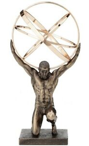 Details About 8 Atlas Statue Carrying The Celestial Spheres Titan Sculpture Greek Mythology