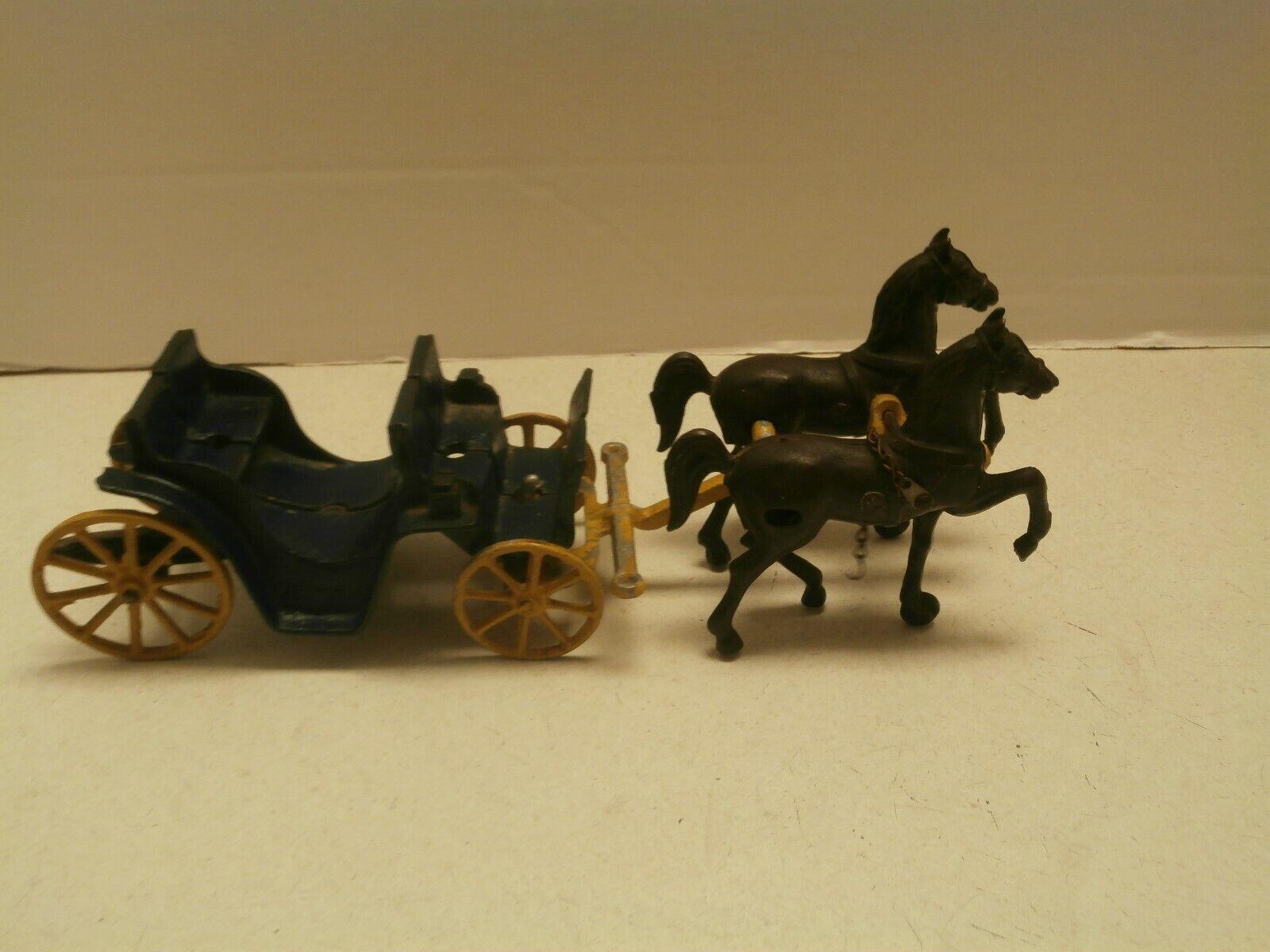 Original De Hierro Fundido Juguetes Stanley caballos y dibujado Vagón Plus Controlador