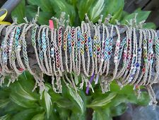 Braided Hemp Anklets or Bracelets in Set of 3