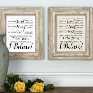 Details About Home Decor Tabletop Art Lauren Daigle You Say Music Decoration Wall Print