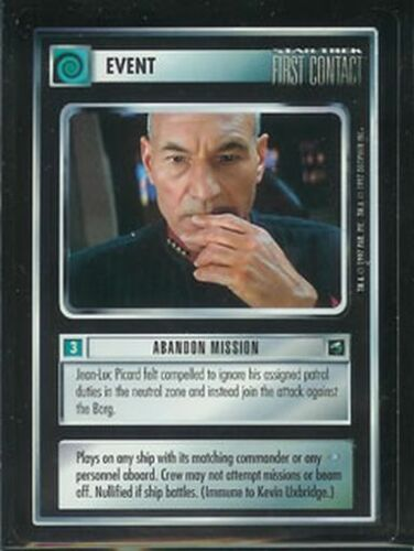Star Trek First Contact Rare Abandon Mission NM//M