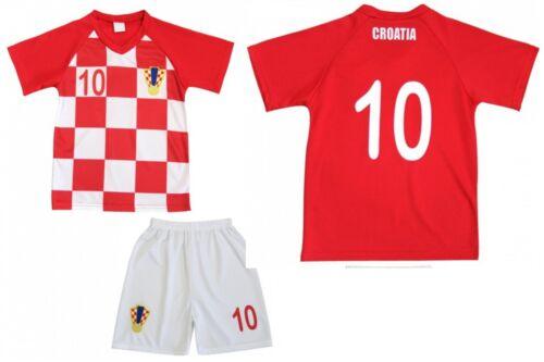 Croatia Kinder T-Shirt Hose Set Kindertrikot Fußball Mannschaft Trikot Jersey