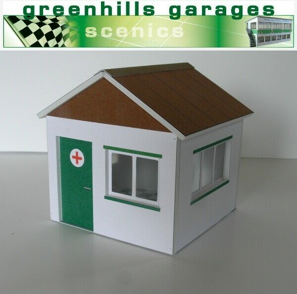 Greenhills Scalextric Slot Car Building First Aid Hut Kit 1 32 Scale -
